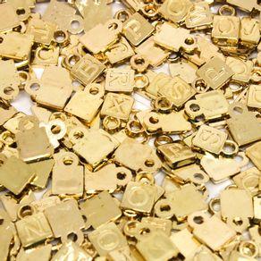 PINGENTE-LETRA-08X11MM-EM-ABS-COM-250GR---073---DOURADO-073